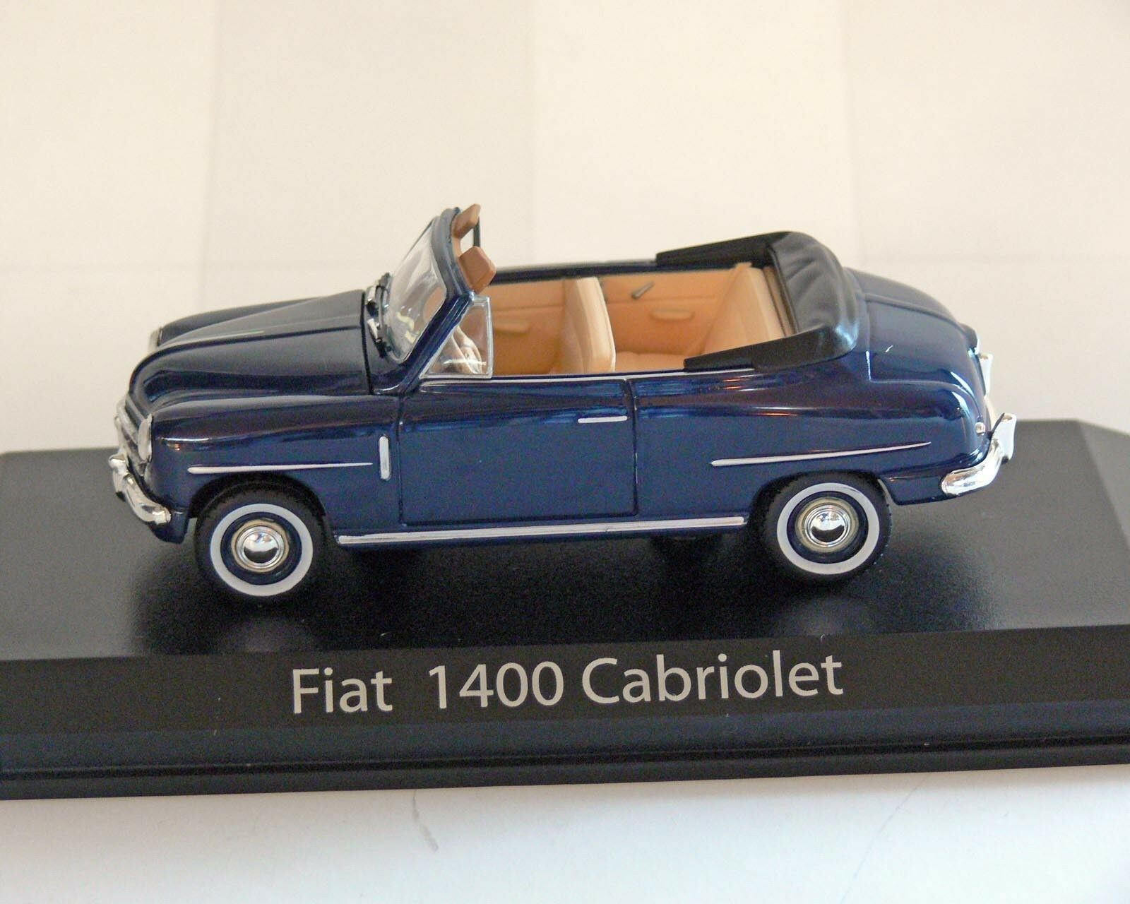 Fiat 1400 Cabriolet, bluee, 1 43, Norev