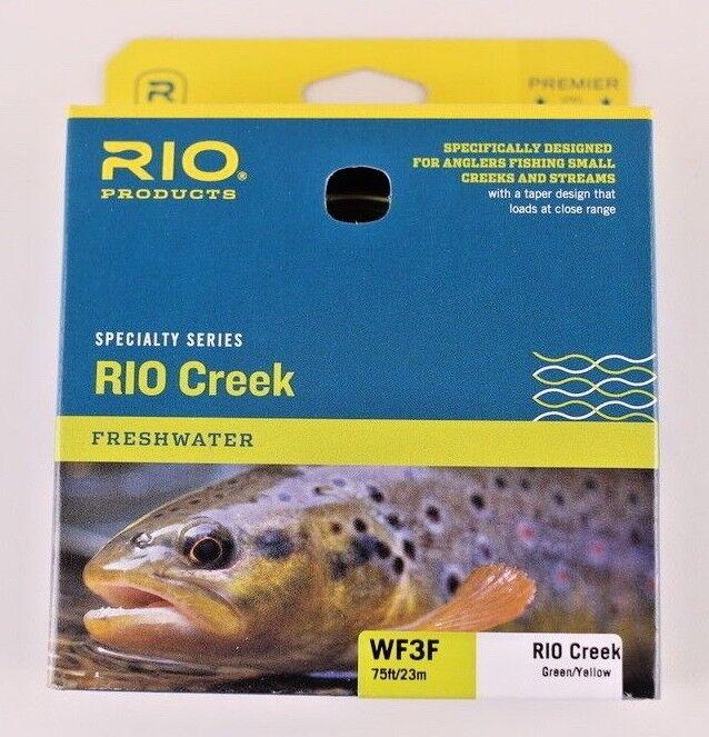 Rio Creek Fly Line WF3F vert jaune Libre Fast Shipping 6-21788