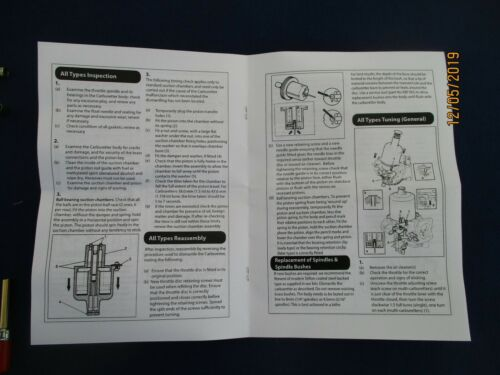 3 TRIUMPH SPITFIRE MK 1 2 4 1200//1300 Dolly HS2 Twin su carbohidratos reconstruir Kit