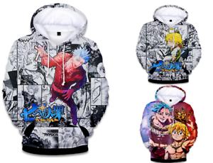BRAND NEW Men Women Anime Hoodies Seven Deadly Sins Sweatshirt Hooded Pullover