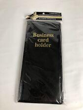 Business Card Holder File Book Binder Organizer Keeper 96 Cards