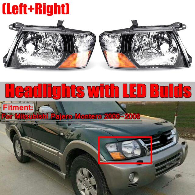 For 2000-2006 Mitsubishi Pajero Montero Left+Right Set Front Head Lamps