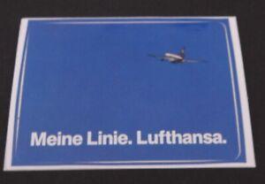 Promotional Stickers Lufthansa Meine Line German Airline 80er Airline