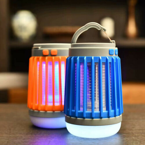Rechargeable Solar Lamp Mosquito Killer Lantern Outdoor Camping Tent LED Light