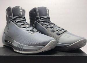 1653a0eaf8e Under Armour Mens Size 11.5 Team Drive 4 Basketball Shoes Grey ...