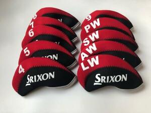 10PCS-Golf-Club-Headcovers-for-Srixon-Iron-Head-Covers-4-LW-Red-amp-Black-Universal
