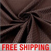 Football Basketball Jersey Mesh Fabric Sports Brown 60 Wide. Free Shipping