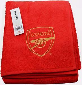 Serviette De Plage Arsenal.Details Sur Arsenal Fc Grand Brode Rouge Plage Bain Natation Gym Serviette 100 Coton Afc