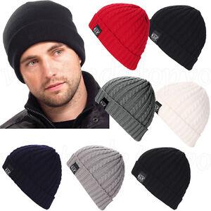 unisexe-femme-hommes-Bonnet-Tricot-Hiver-Chaud-crochet-SKI-ample-capuchons