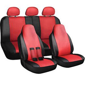 Seat Cover Complete Set for Car Truck SUV Van 10 Piece PU Leather