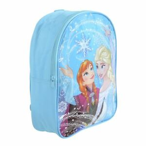 6be481a72ae Kids Childrens Disney Frozen Anna Elsa Blue Backpack School Travel ...