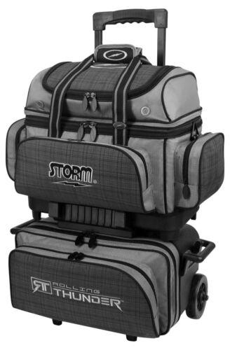 Storm Rolling Thunder Black/Plaid/Grey 4 Ball Roller Bowling Bag