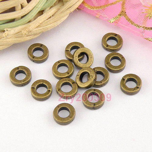 100Pcs Antiqued Bronze Tiny Spacer Beads 6mm Jewelry Making DIY KA5256