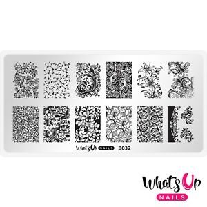 B032-Floral-Swirls-Stamping-Plate-For-Stamped-Nail-Art-Design