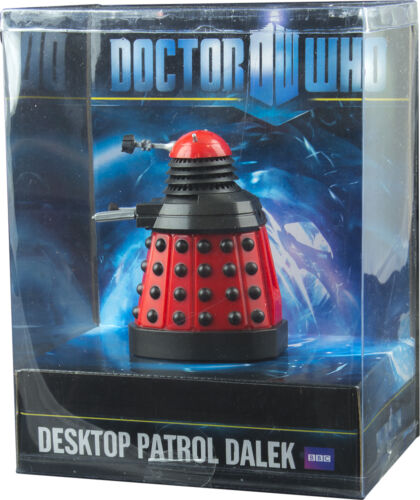 "DOCTOR WHO Desktop Patrol 4/"" Dalek ~ Red #NEW Wow! Stuff"