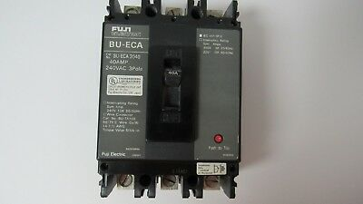 2-Fuji Electric Circuit Breaker BU-ECA3010 BUECA3010 10A 10 A Amp 240VAC 3 Pole