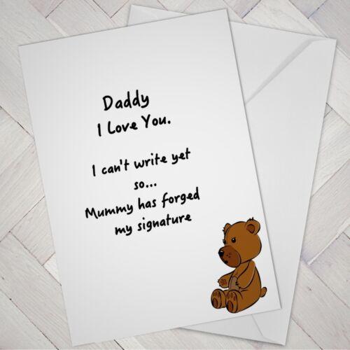 Drôle Fête des Pères Anniversaire Carte De pour Bébé Maman Mummy Mari Papa Papa