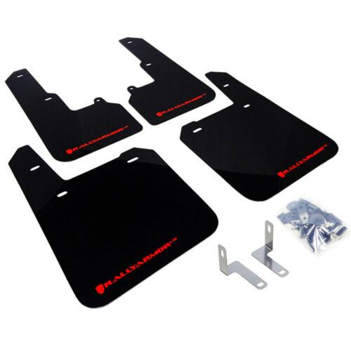 Subaru Outback Rally Armor Black UR Mud Flaps Kit w// RED Logo for 2015