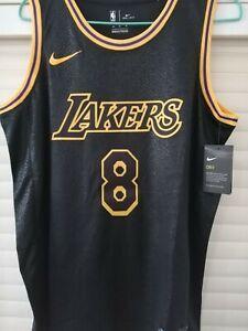 Kobe Bryant #8 NEW Mens Los Angeles Lakers Black Mamba Jersey Size ...