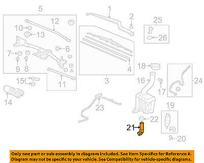 HONDA OEM Wiper Washer-Windshield-Fluid Level Sensor 76835SZA000