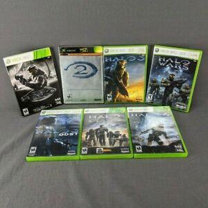 HALO 1 2 3 4 ODST Reach Wars Original XBOX & Xbox 360 Video Game Bundle Lot of 7