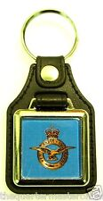 RAF Royal Air Force Leather Medallion Key Ring / Keyring