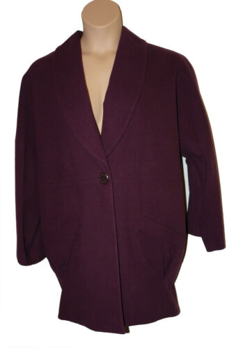 Colour aubergine Limited Bnwt Size Coat In Collar 14 Dusk W Collection Shawl Rx4UPgq