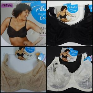 292be22ee54 Image is loading Playtex-Love-My-Curves-Amazing-Shape-Unlined-Balconette-