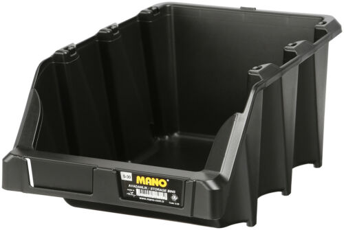 Strong Plastic Stacking Bins Tool Storage Organiser Shelving Industrial Quality
