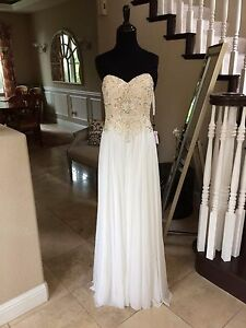 2a66e0dc733  378 NWT IVORY JVN BY JOVANI PROM PAGEANT FORMAL WEDDING DRESS GOWN ...