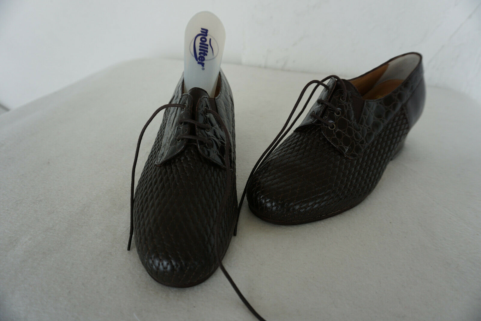 Orthopädische MOLLITER bequem Damen Comfort Schuhe Gr.34 schwarz Lack Leder NEU