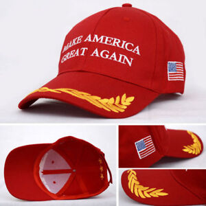 New Trump Hat Make America Great Again MAGA Baseball Cap Hat RED Olive Branch