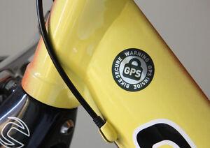 4-GPS-INSIDE-AUFKLEBER-RAD-SICHERUNG-BIKE-SECURE-WARNING-RENNRAD-BICYLE-STICKER