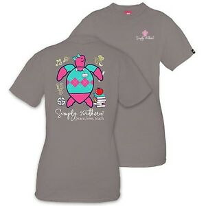 SIMPLY-SOUTHERN-WOMEN-039-S-T-SHIRT-TEACHER-SAVE-THE-TURTLES-NWT