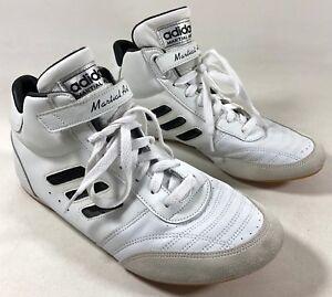 8 striped Marciales Zapatos Negro Artes 3 Blanco 5 Mma Piel Adidas Hombre AvTYq6