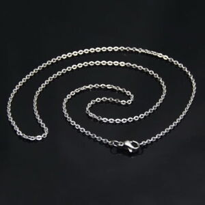 1-5mm18-034-Womens-Jewelry-Silver-Strong-Weld-Stainless-Steel-Rolo-Necklace-Chain