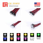 20pcs 3 5 8 10mm DC 9-12V Pre-Wired Water Clear White Red Blue Green LED Diodes