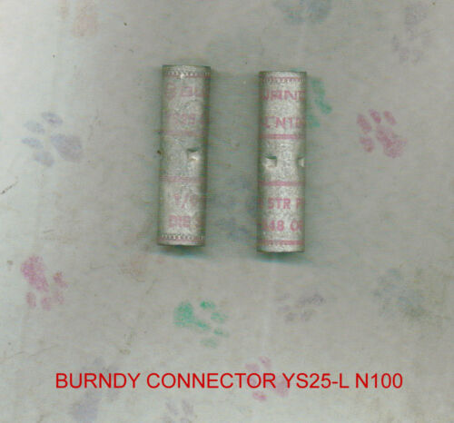 Burndy Connectors YS25-L N100 STR Pink  Butt Splice