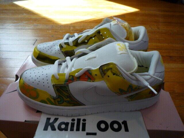 online store 8fe7e 1cd8a 2005 Nike Dunk Low Pro SB De La Soul White Yellow Size 9.5 # 304292 171