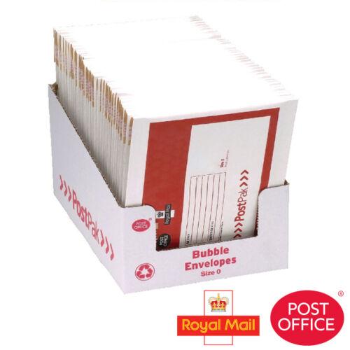 Bureau de poste royal mail postpak enveloppe matelassée //// taille 0 //// pack de 40 //// 41629
