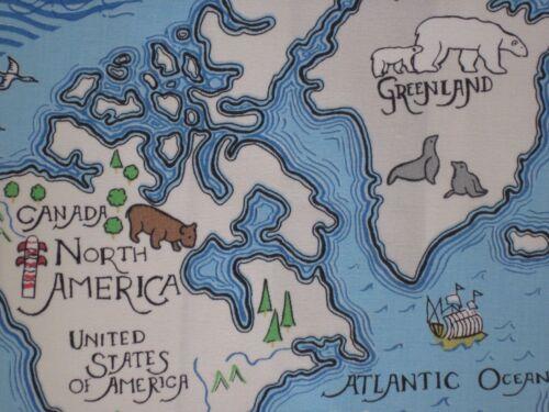 "SANDERSON CURTAIN FABRIC DESIGN /""Treasure Map/"" 3.6 METRES SEA BLUE  ABRACAZOO"