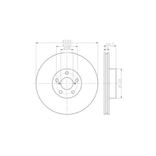 Fits SUBARU IMPREZA Gr 2.5 WRX se AWD Véritable Mintex Disques de Frein Avant Paire x2