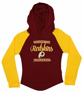 272c7a7c OuterStuff NFL Youth Girls Long Sleeve Hooded Shirt, Washington ...