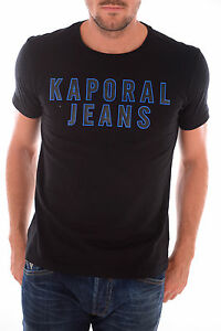 TEE-SHIRT-KAPORAL-5-HOMME-MANCHES-COURTES-HOOPY-NOIR