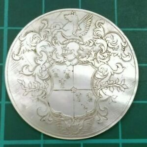 Details about VERY RARE CARVED MOTHER OF PEARL CREST COAT OF ARMS GAME CHIP  COUNTER ARMORIAL