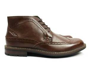 4f7c736923b Details about Men's Ankle Dress Boots Wing Tip Lace Up Leather Lining  Bonafini Luciano D-512