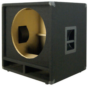 1X18-Bass-Speaker-Empty-Cabinet-Black-Carpet-PA-DJ-Live-Music-Theater-Sub