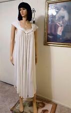 MISS ELAINE CLASSICS vintage NWT Antron Nylon IVORY Long Nightgown size L large