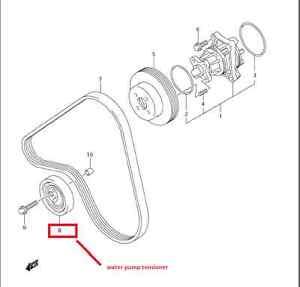20062008 Suzuki Grand Vitara Water Pump Belt Tensioner Oem 17540. Is Loading 20062008suzukigrandvitarawaterpumpbelt. Suzuki. 2008 Suzuki Grand Vitara Water Pump Diagram At Scoala.co