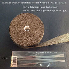 TITANIUM INSULATION PIPE WRAP EXHAUST HEADER MOTORCYCLE TAPE 2in.×1/16 in.×50ft